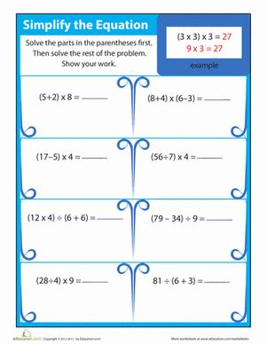 Third Grade Algebra Worksheets