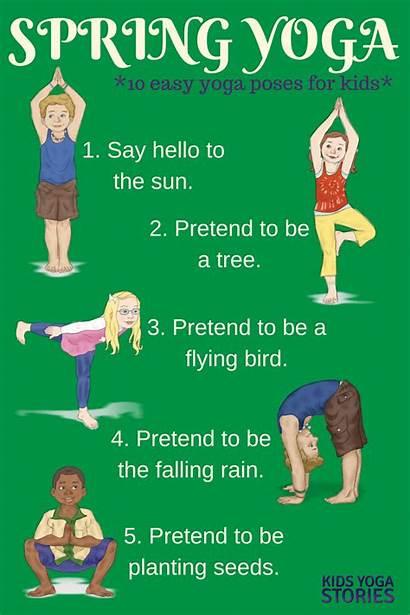 Yoga Poses Spring Easy Movement Printable Preschool
