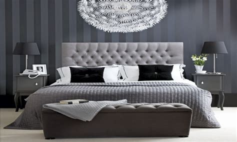 hotel chic bedroom black white and grey bedroom ideas