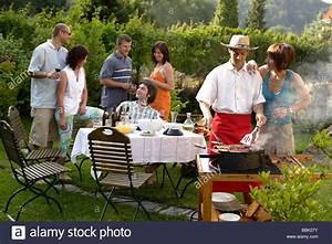 Barbecue Party Garden Party Grill Party Stock Photo: 24390463 - Alamy