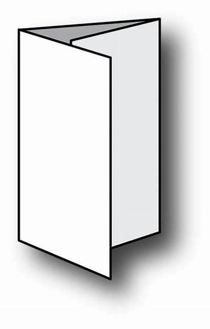 Brochure Clipart Fold Tri Clip Blank Leaflet