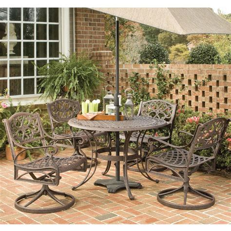 patio furniture 5 pc outdoordiningset w arm chairs