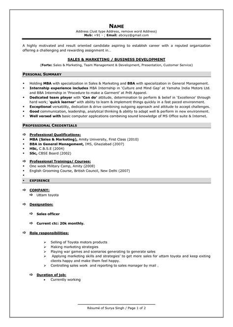 resume format fotolip