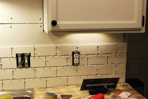 how to install a backsplash in kitchen how to install a subway tile kitchen backsplash