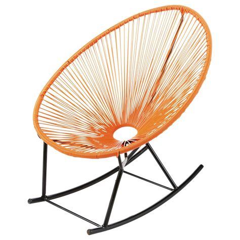 fauteuil a bascule maison du monde fauteuil 224 bascule de jardin orange copacabana maisons du monde