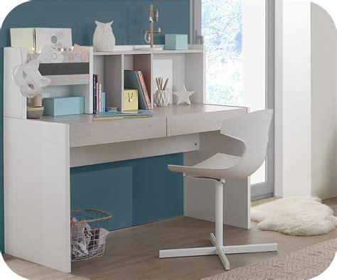 bureau bois et blanc bureau enfant iléo blanc et bois avec rangements