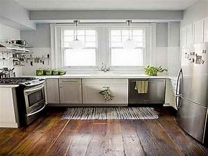 Best wood floor for kitchen kitchen paint color ideas for Kitchen floor ideas with white cabinets