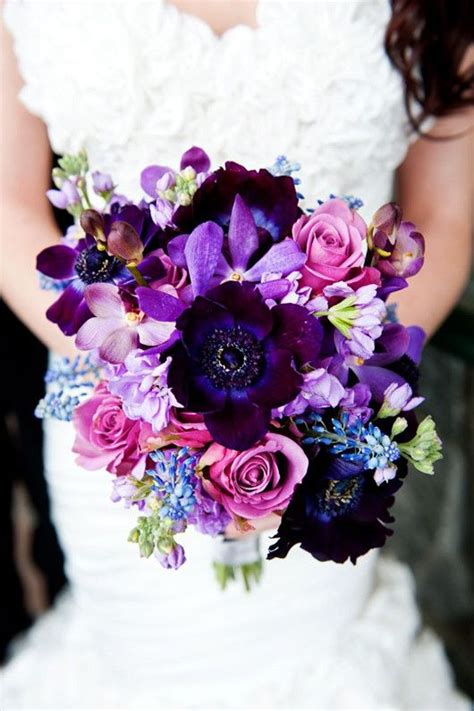 purple wedding flower ideas wedding bouquet wedding
