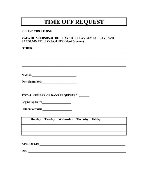 22297 request for time form vacation request forms 2014 free printable printable