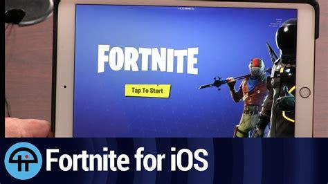 play fortnite   ipad youtube