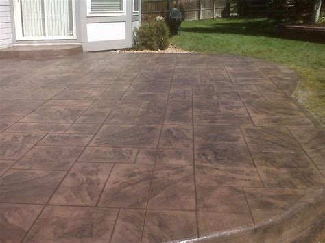 sted concrete patio from wildflower landscape in denver