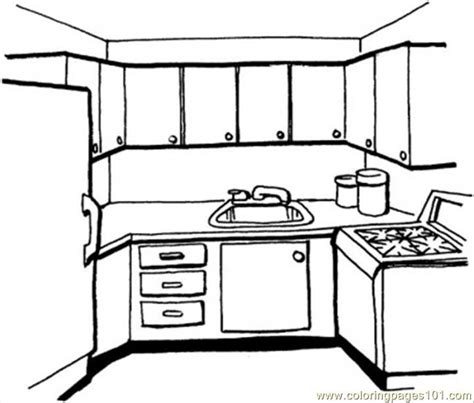 kitchen coloring page  kitchenware coloring pages