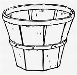 Basket Clipart Apple Coloring Empty Apples Clip Harvest Pages Bushel Pencil Clipground Pinclipart Template sketch template