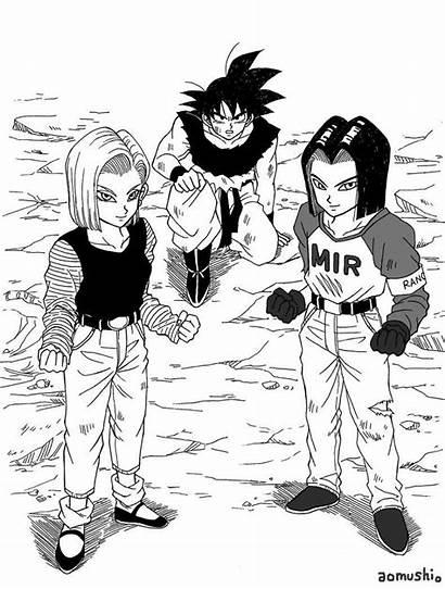 Dbz Goku Android Manga Dragon Ball Drawing