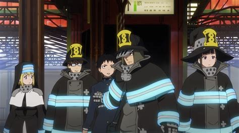review fire force episode  holy firefighters  unholy