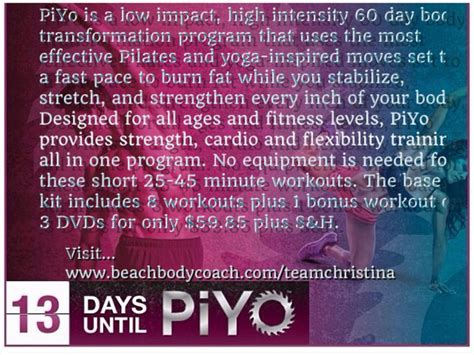 Beachbody Chalene Johnson Piyo Workout