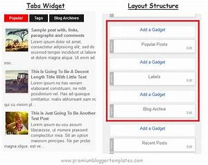 how to configure blogger tabs widget premium blogger With blogger post template code