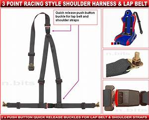 2 X Racing Harness - 3 Point Race Harness