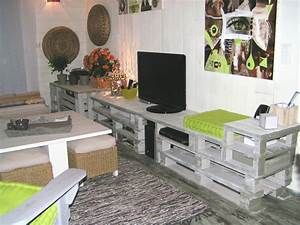 Acheter Meuble En Palette Bois : loooonnnnnnnnnnnnnnnnnnnng meuble en palettes pour le ~ Premium-room.com Idées de Décoration