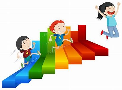 Steps Reach Vector Happy Clipart Background Student