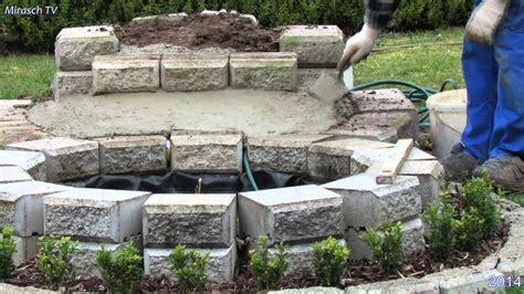garten wasserfall selber bauen kleine wasserfall im garten bauen 1
