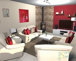 projet client relooking d39un salon sejour sonia saelens With couleur chaleureuse pour salon 17 une deco aux couleurs du psg