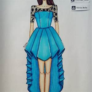 dress fashion design illustration on Instagram