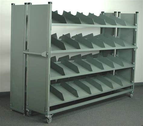 stackbin custom projects sloped shelf divider cart