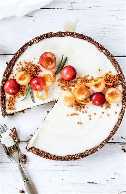 Cheesecake Vanilla Cherry Bean Raw Recipe Dessert