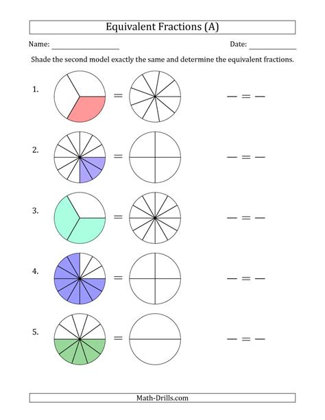 Equivalent Fractions Models (a
