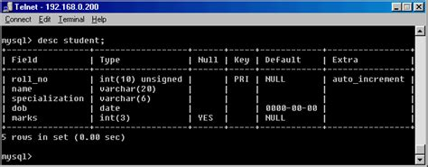 mysql show table contents working with mysql