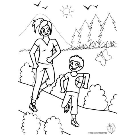 disegni di parco giochi disegno di mamma e figlio al parco da colorare per bambini