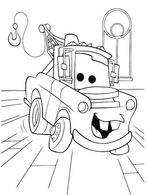 dibujo mate cars  colorear