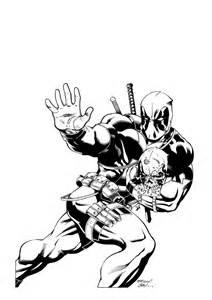 Black Deadpool Coloring Pages