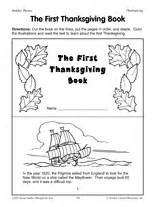the thanksgiving book printable 2nd 4th grade teachervision