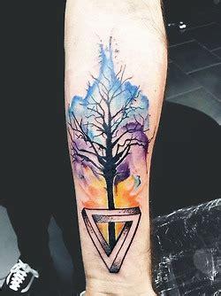unique hippie tree tattoos
