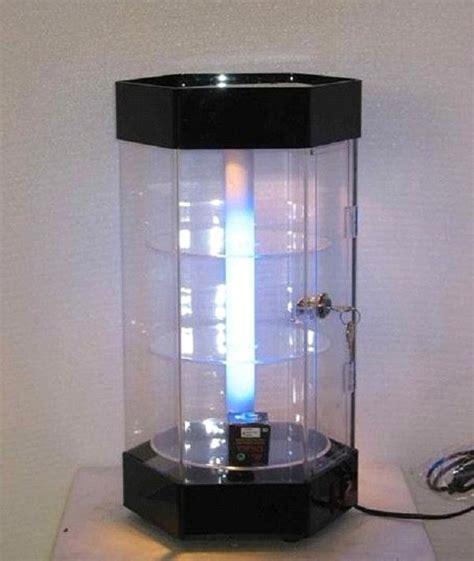 revolving acrylic jewelry display showcase led lighting