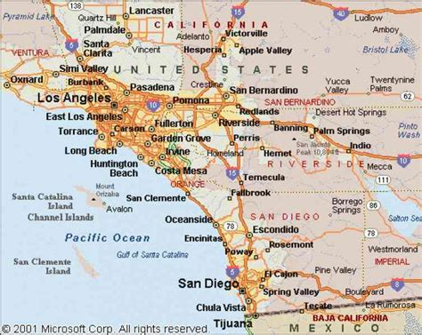 Carte Cote Ouest by Map Of West Coast Of California Holidaymapq
