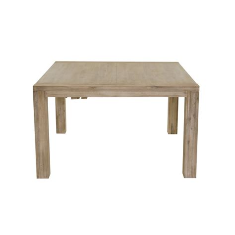 table repas carr 233 e acacia avec allonge 130 cm mooviin