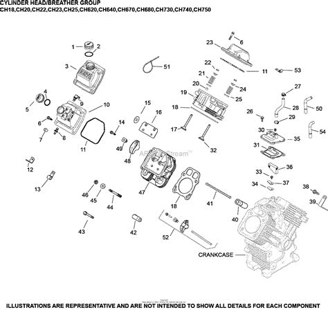 17 Hp Kohler Engine Diagram by Kohler Ch730 0104 Mtd 23 5 Hp 17 5 Kw Parts Diagram For