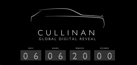rolls royce cullinan rolls royce cullinan global digital reveal confirmed for
