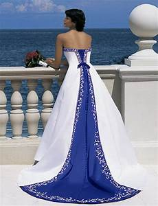 blue and white wedding dress With white and royal blue wedding dress