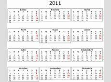 Descargar calendario 2011 para imprimir