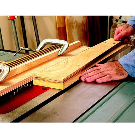 tablesaw pattern jig woodworking plan  wood magazine