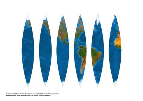 kartennetzentwuerfe kartenprojektionen ein globus zum