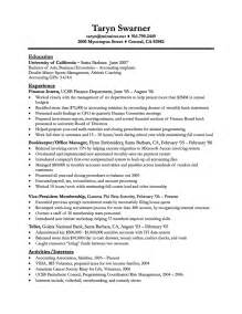 resume cover letter exles bookkeeper resume cover
