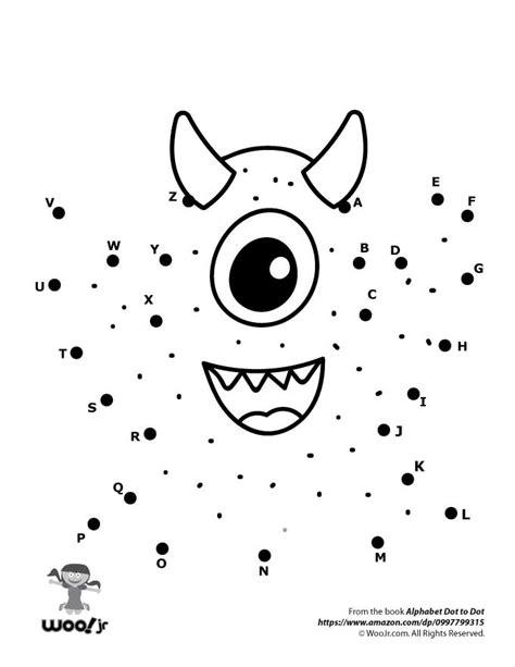 Cute Monster Dot To Dot  Woo! Jr Kids Activities