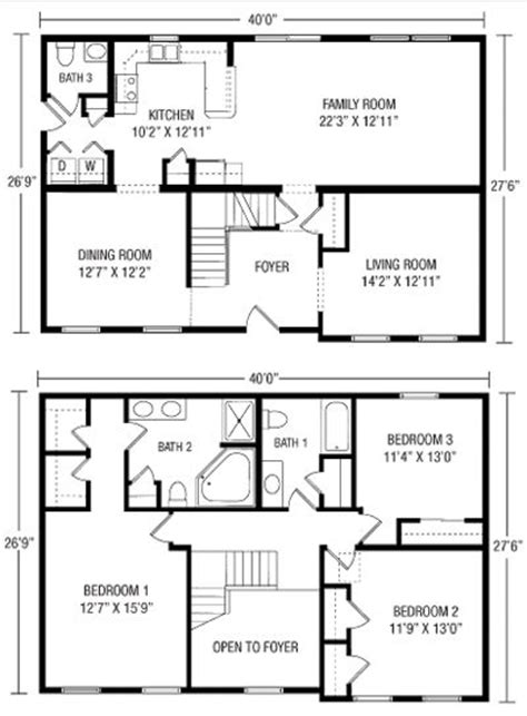 two story condo floor plans 26 x 40 cape house plans premier builders two story