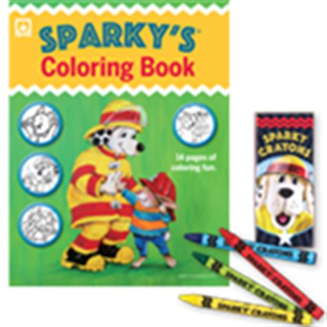 sparkys coloring book  crayons set