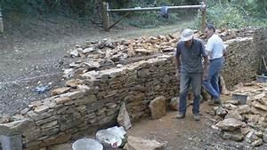Construction Maison En Pierre : construction mur en pierres s ches jep 3 3 youtube ~ Melissatoandfro.com Idées de Décoration